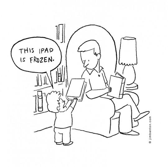 Frozen iPad cartoon