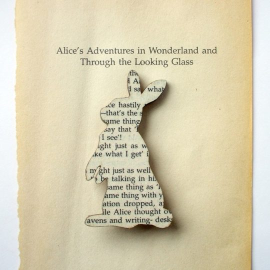 House of Ismay book page jewelry - Alice's Adventures in Wonderland