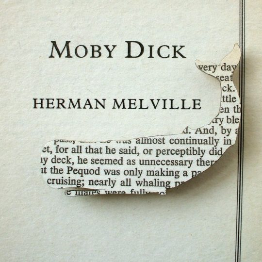 House of Ismay book page jewelry - Moby-Dick