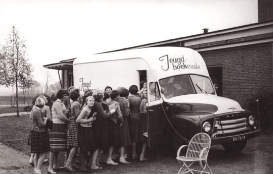 Jeugd-boekenauto - the bookmobile of the public library of Drenthe, the Netherlands