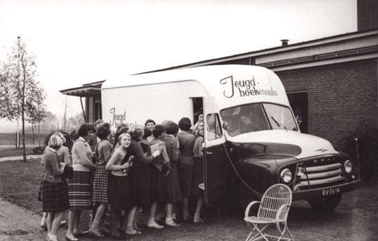 Jeugd-boekenauto - the bookmobile of the public library of Drenthe, the Netherlands