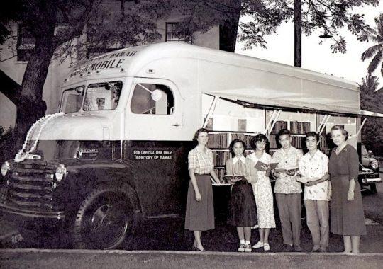 Library of Hawaii bookmobile around 1955
