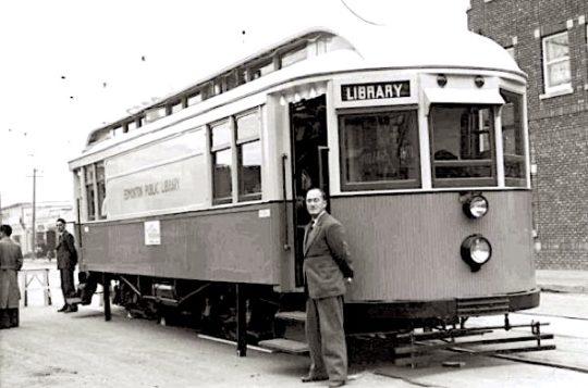 Library streetcar of the Edmonton Public Library, Canada, 1941