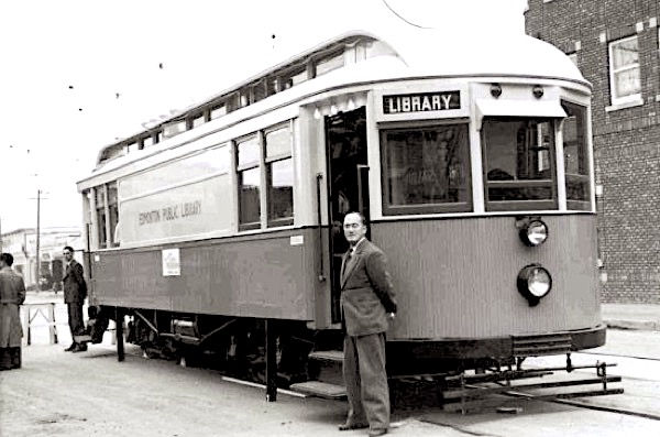 Library streetcar of the Edmonton Public Library, Canada, 1941