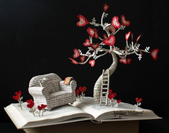 Malena Valcarcel book sculptures - Go Back to That Magic Time