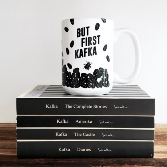 Obvious State - But First Kafka coffee mug