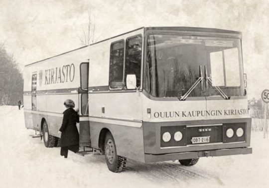 The bookmobile of the Oulu City, Finnland