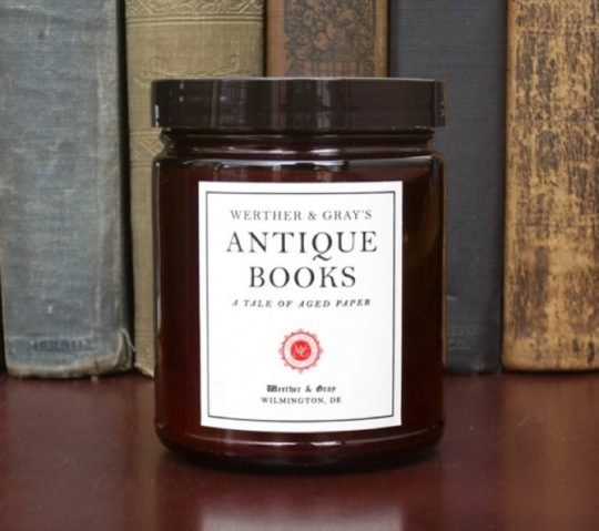 Werther & Gray - Antique Books literary scented candle