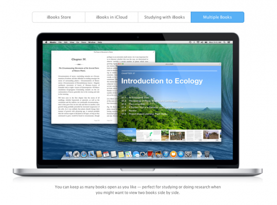 iBooks for MacOS Mavericks
