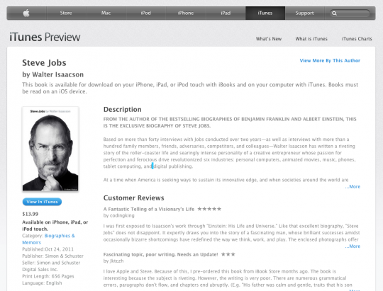 iBooks Store web preview