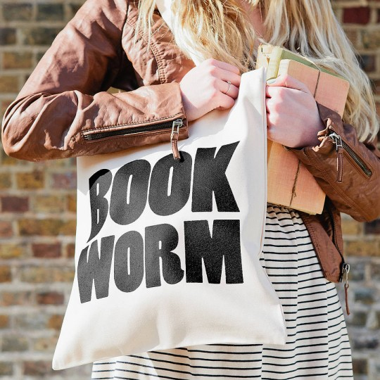 Alphabet Bags Book Worm Tote Bag
