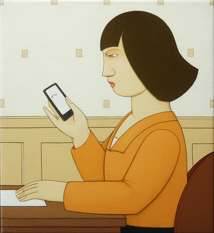 Andrew Stevovich - Woman Reading oil painting
