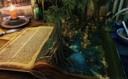 Book Fantasy - a wallpaper for computers and tablets