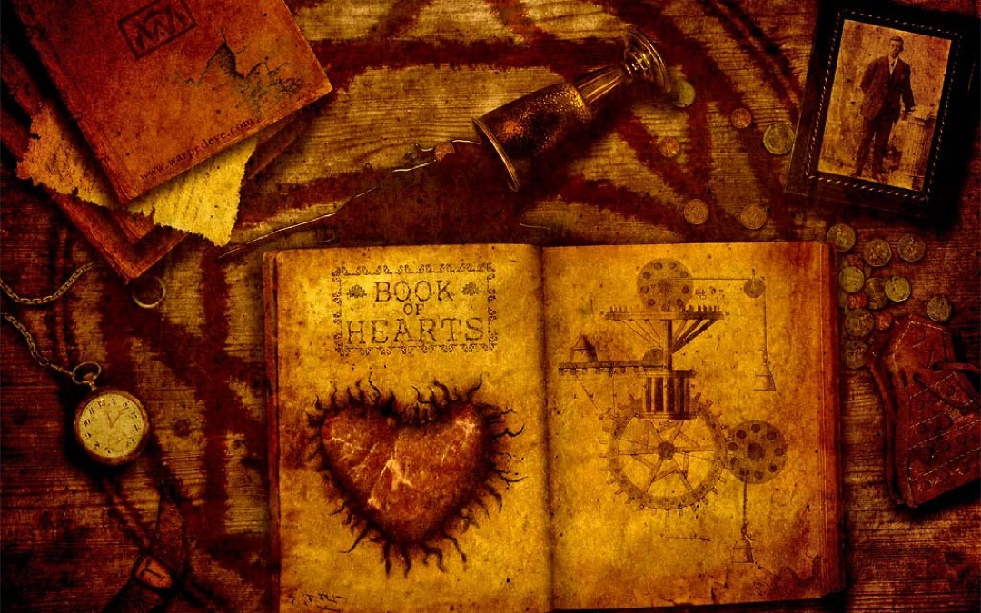 Book of Hearts - book wallpaper for tablets and laptops