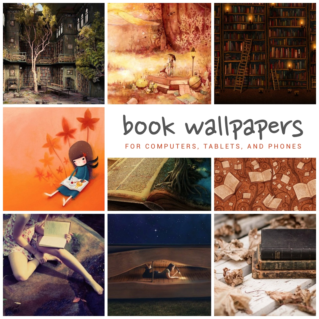 25 book wallpapers for your tablet computer and smartphone