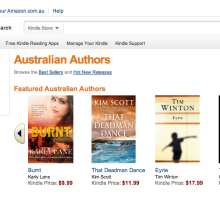 Kindle Store Australia - Australian authors