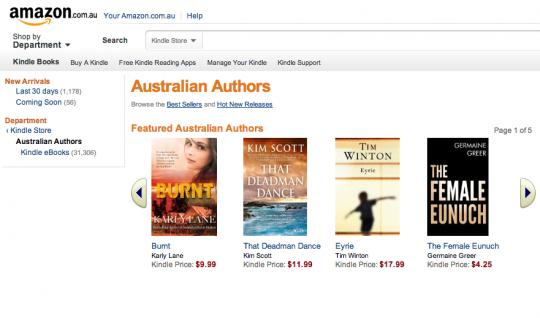 Kindle Store Australia - Australian authors