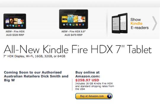 Kindle Store Australia - buy devices