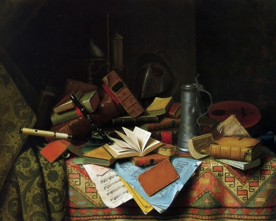 Kitchen Still Life with Books