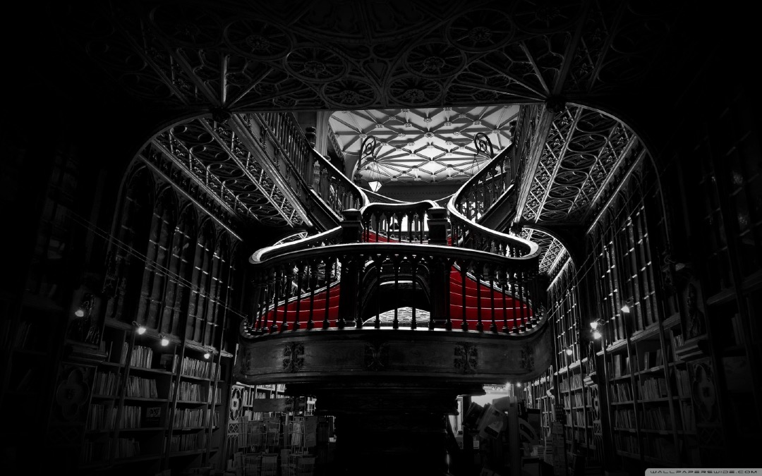 Lello Bookshop in Porto - book wallpaper