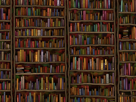 Library - a book wallpaper