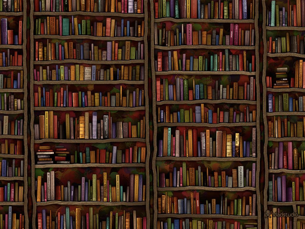Library - a book wallpaper