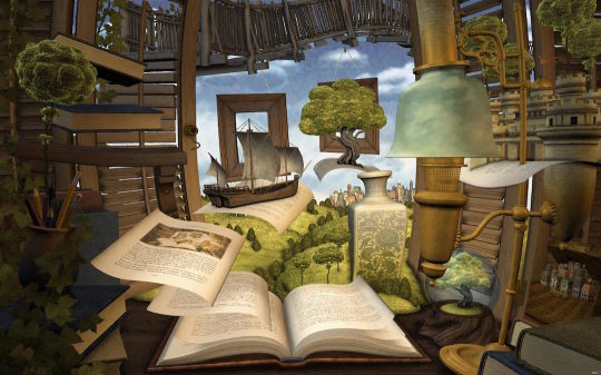 Lost in a Good Book - book wallpaper