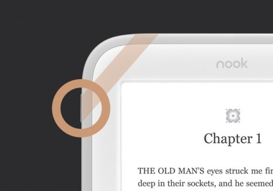 Nook Glowlight power button