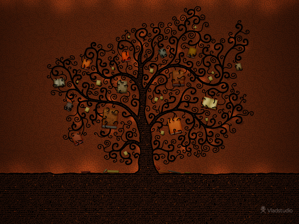 The Tree of Books - a book wallpaper by Vlad Studio
