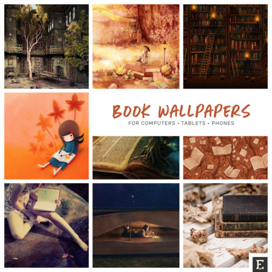 25 beautiful book wallpapers for your tablet computer and smartphone