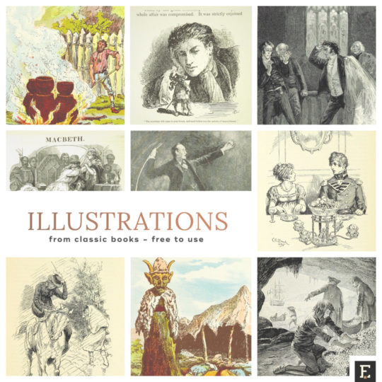 Illustrations from classic books - free to use and remix