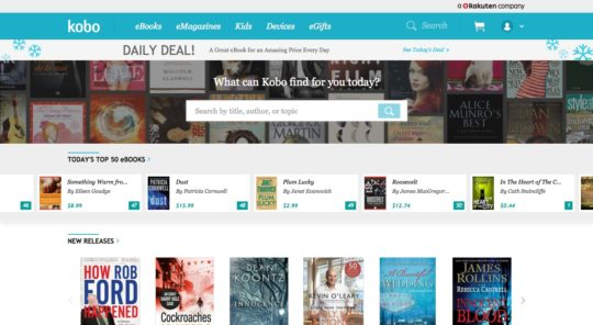 Kobo website - new interface