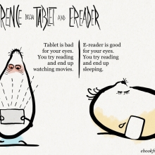 Difference between #tablet and #ereader #cartoon
