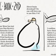 Gifting a #book in 2033 #cartoon