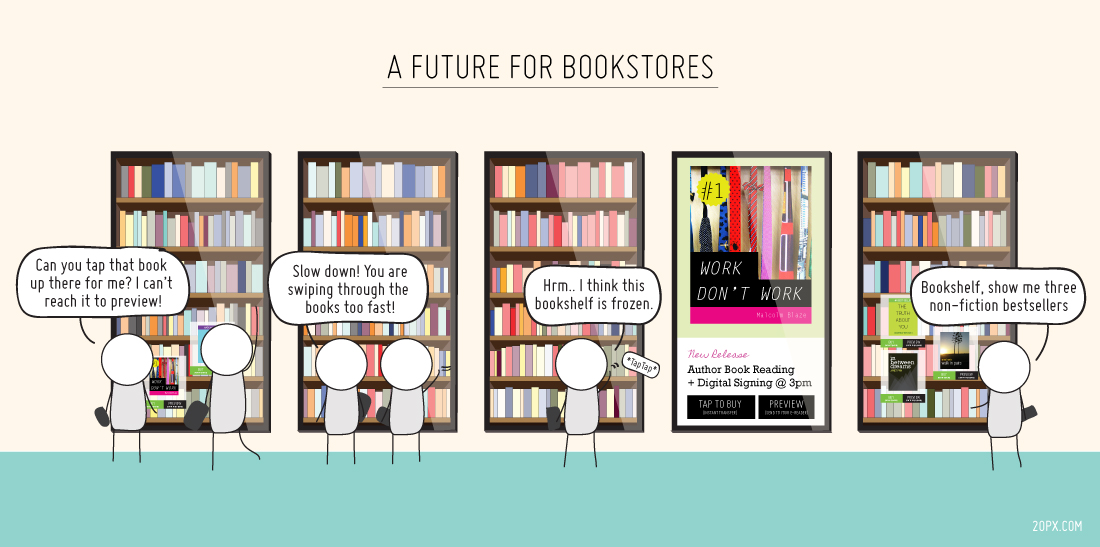 A future for bookstores and books - comic strip