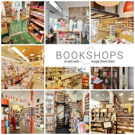 Bookshops to visit with Google Street View