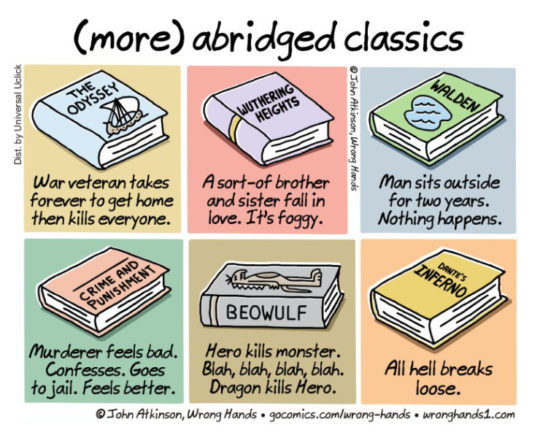 Cartoons about the future of books - More abridged classics - John Atkinson