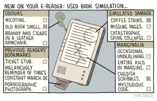 Cartoons about the future of books - Used book simulation - Tom Gauld