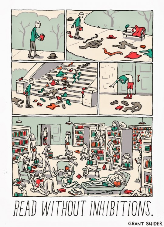 Grant Snider - The joy of reading 3 - comic