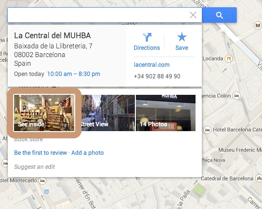 How to find Indoor Tour on Google Maps