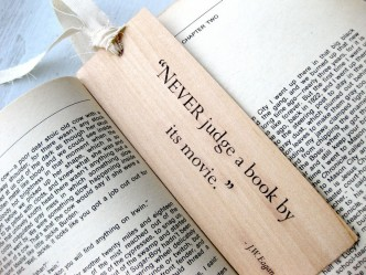 Never judge a book by its movie - JW Eagan bookmark on Etsy