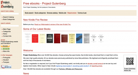 Project gutenberg books