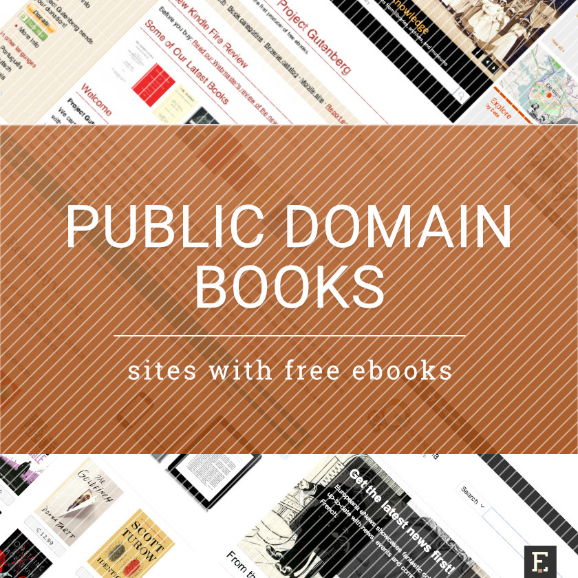 25 sources of free public domain books fandeluxe