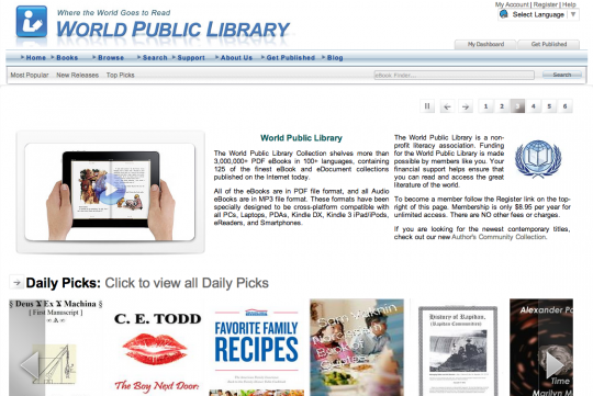 World Public Library - front page