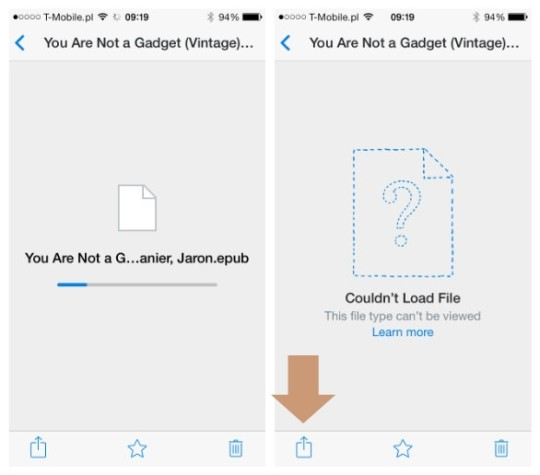 Adding files to book apps via Dropbox for iOS - picture 1