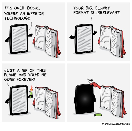 Kindle talking too much - cartoon