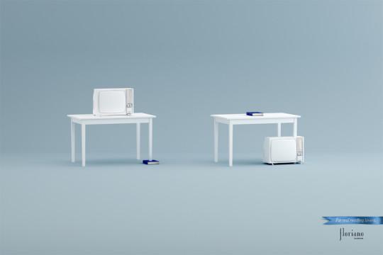 Floriano Bookstore ad campaign - TV set