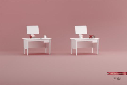 Floriano Bookstore ad campaign - computer