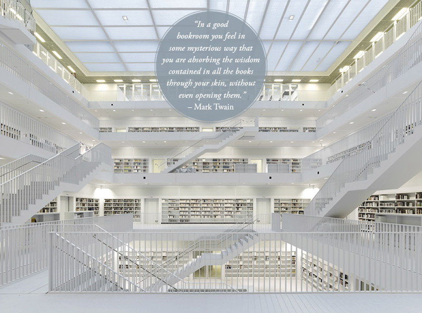Quotes about libraries - Mark Twain - Stuttgart City Library