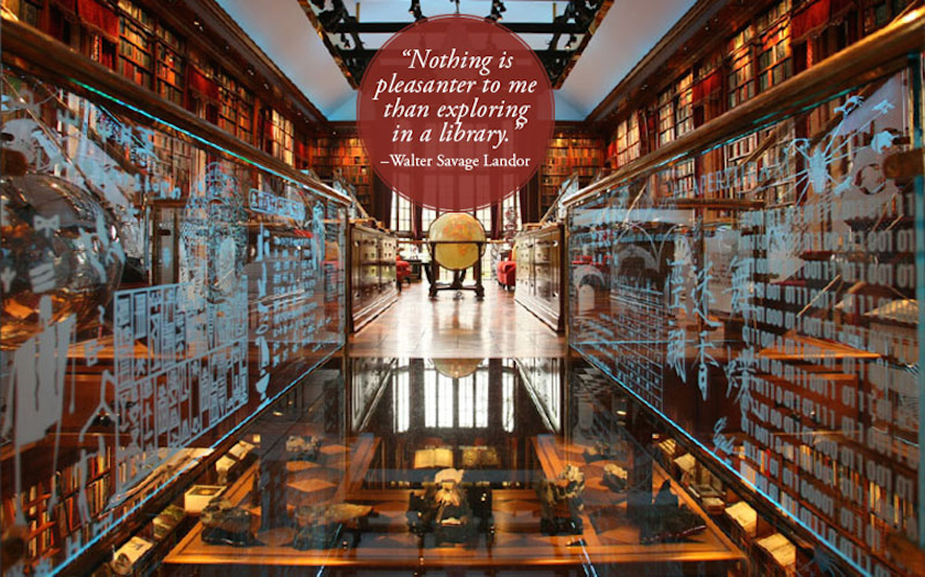 Quotes about libraries - Walter Savage Landor - The Walker Library of the History of Human Imagination